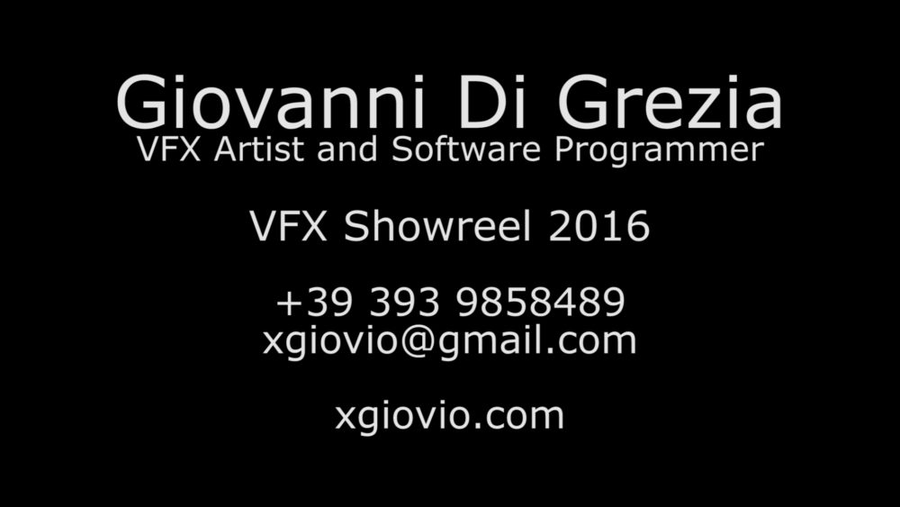 Giovanni Di Grezia Vfx Artist And Software Developer